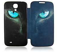 Cat Eyes completo Funda de cuero para Samsung Galaxy Cuerpo S4 i9500