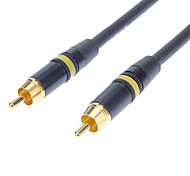JSJ® 5M 16.4FT RCA Composite Male to Male Video Gold-Plated Cable - Black
