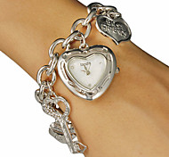 Damen Quartz Band Heart Shape Silber / Gold Marke-