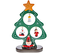 Wooden Christmas Tree Santa Claus Bell Standing Desk Top Decorations Pack