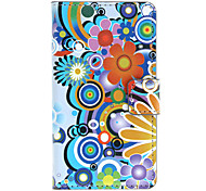 Cartoon Flowers Pattern Full Body Case with Card Slot for HuaWei Y300