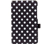 2 Folds Spots Pattern PU Leather Case for Nexus 7(the 2nd Generation)