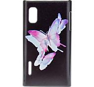 Beautiful Butterflies Pattern Hard Case for LG E612(Optimus L5)