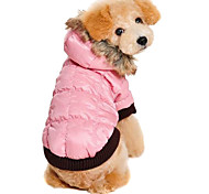 Lovely Simple Style Warm Coat with Hoodie for Pets Dogs (Assorted Sizes)