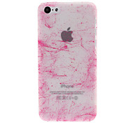 Classic Silk Print Design with Fluorescent Light Plastic Hard Case for iPhone 5C