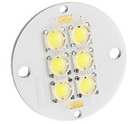 6W 200LM 6500K fresco LED placa branca (11-12V)