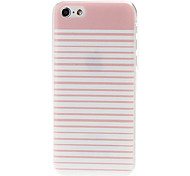 Pink Stripe Pattern Plastic Hard Case Cover for iPhone 5C