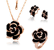 women's Rose Diamond Jewelry Set