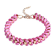 Lureme®Colorful Cubic Ribbon Braided Bracelet
