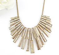 Free shipping Min $102013 fashion silver/gold color strip statement necklaces collar necklace 4906-A3