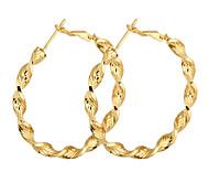 Vergoldet Bronze Kreis Hoop Ohrringe ER0465