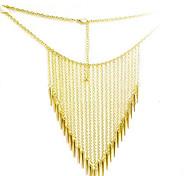 Damen Rivet Quasten Halskette