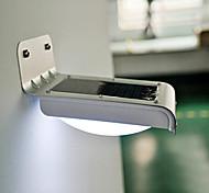 Outdoor-Solar-PIR-Sensor versorgt 1W 100lm 6000K 16-LED-Lampe - Silber + Schwarz