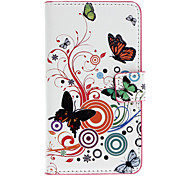 Beatiful Butterflies Pattern Full Body Case with Card Slot for Nokia Lumia 720/N720 (White)