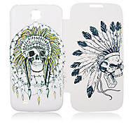 Indian Skull Leather Case for Samsung Galaxy S4 I9500