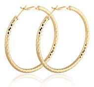 Gold Plated bronze Circle hoop Earrings ER0374