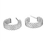 silver earring fashion jewelry Hoop Earrings73