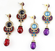 Drop EarringsJewelry Red / Purple Alloy / Rhinestone Daily
