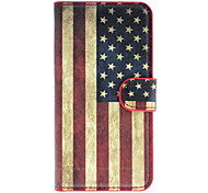 Amerikanische Flagge Muster Full Body Gehäuse mit Card Slot für HTC 601e (One Mini) / M4