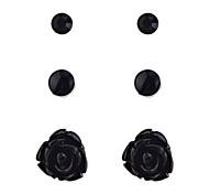 Moda strass Rosa Orecchini Set-3 paia per guarnire (più colori)