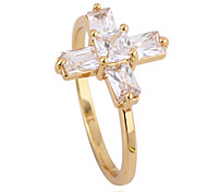 (1 pieces)Classic Women's Transparent Zircon Rings (7#,8#)