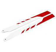 325MM Glass Fiber Main Blade Remote Control Helicopter Parts for PRO White & Red