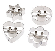 4 Sets Stainless Steel Face Combination Suit Cookies Mold