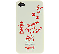 Singing Sexy Gril Pattern PC Hard Case with Transparent Frame for iPhone 4/4S