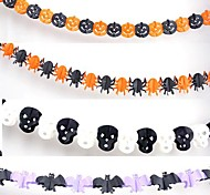 Halloween Garland for Bars Paper Decoration Props(3 Meter 4PCS)