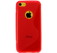 S Shape Pattern TPU Soft Case with Back Chrome for iPhone 5C (Assorted Colors)