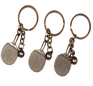 1PCS Metal Table Tennis Bats Keychain