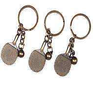 1PCS metallo Ping Pong Racchette portachiavi