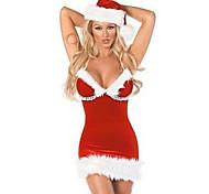 Red Fluffy tubino donna di Natale Costume