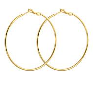 Vergoldet Bronze Kreis Hoop Ohrringe ER0464