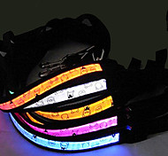 LED Safety Nylon Bears Pattern Collar for Pets Dogs (Assorted Colors, Sizes)