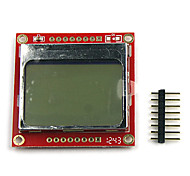 "1.6"" LCD Nokia 5110 LCD Module with White Backlit for (For Arduino) (Works with Official (For Arduino) Boards)"