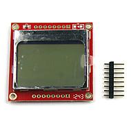 "1.6 ""lcd nokia 5110 lcd módulo con retroiluminación blanca para (para arduino) (trabaja con oficiales (para Arduino) Tablas)"