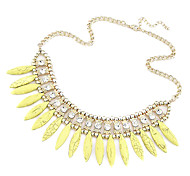 Exaggerated Bohemia Style Drop Temperament Short Necklace