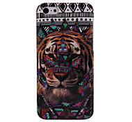 Tribal Tribe Pattern & Tiger Head Glossy Hard Back Case for iPhone 5C