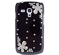 Fashion Crystal Flowers Diamond Hard Back Cover Case for Samsung Galaxy S3 Mini I8190