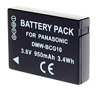 BCG10 Akku für Panasonic Lumix DMC-TZ6 DMC-TZ7 DMC-ZS1 DMC-ZS3