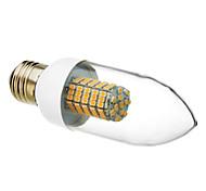 E26/E27 6 W 102 SMD 3528 520-550 LM Warm White Candle Bulbs AC 220-240 V