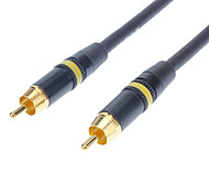 JSJ® 1M 3.28FT RCA Composite Male to Male Video Gold-Plated Cable - Black
