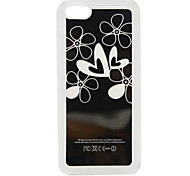 New Sense Flower Heart Flash Light LED Color Changing Hard Case for iPhone 5C