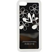 novo sentido flor coração leve flash LED muda de cor caso difícil para iphone 5c