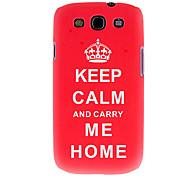 Термотрансферной печати шаблон Красный Корпус Crown чехол для Samsung Galaxy I9300 S4