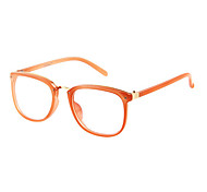 Women's Transparent Lens Metal Squar Frame Eyeglasses(Assorted Colors)
