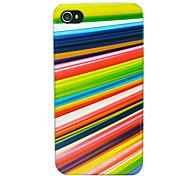 caso línea de fondo colorido para el iphone 5 / 5s