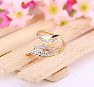 Japanese And Korean Jewelry Wholesale Branches Leaves Leaves Full Of Love Diamond Ring Ring