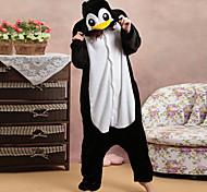 Honest Penguin Black and White Polar Fleece Kigurumi Pajamas Cartoon Sleepwear Animal Halloween Costume